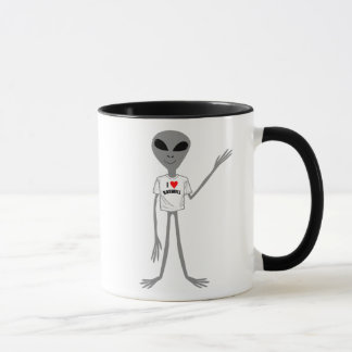 Mug Amour gris Roswell de l'alien I