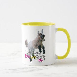 Mug AMOUR | I de CHÈVRE Freaking juste des chèvres de