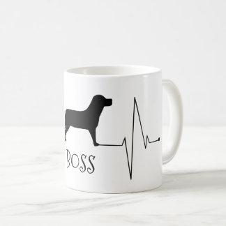 Mug Amour personnalisé de Labrador mon battement de