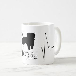 Mug Amour personnalisé de Terrier mon battement de
