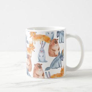 Mug Animaux de forêt. Aquarelle
