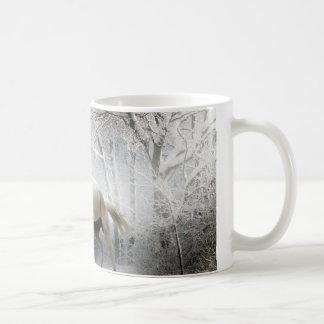 Mug Animaux familiers de café de forêt de neige de