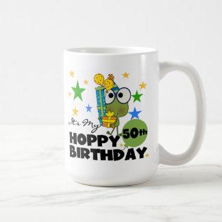 Mug Anniversaire de houblon de Froggie cinquantième