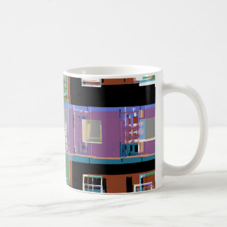 Mug Appartements abstraits colorés de ville