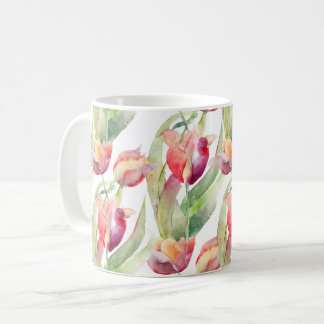 Mug Aquarelle de tulipes de ressort florale