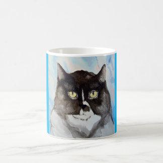 Mug Aquarelle d'un chat noir et blanc