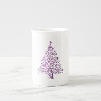 Mug Arbre de Noël rose décoratif étoilé élégant