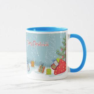 Mug Arbre et présents de Noël contemporains dans la