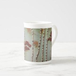Mug Arbres de bouleau dans l'automne