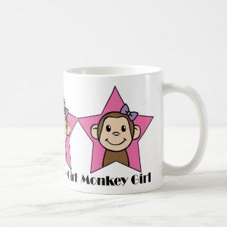 Mug Arc d'étoile de rose de fille de singe de sourire