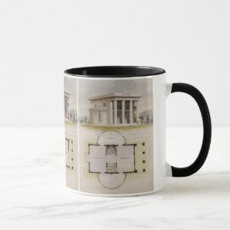 Mug Architecture vintage, plan d'étage et villa