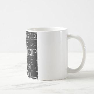 Mug Arrière - plan avec des formes métalliques