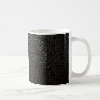 Mug Arrière - plan en cuir noir de texture