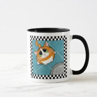 Mug Art affamé de chat du chat tigré | de gingembre