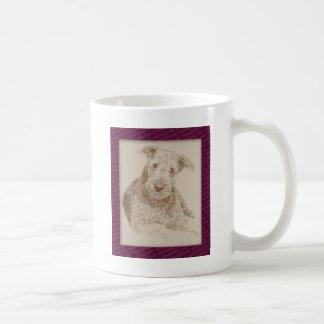 Mug Art d'Airedale Terrier tiré seulement des mots