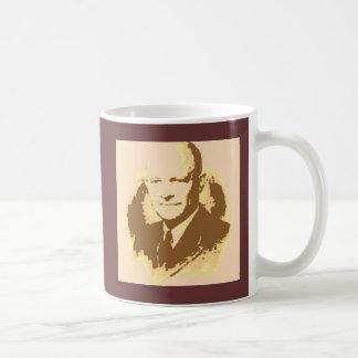 Mug Art de bruit de Dwight D Eisenhower