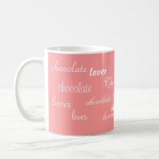 Mug Art de mot de rose et de chocolat