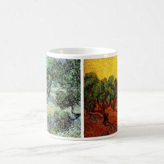 Mug art différent de cru de 2 de Van Gogh arbres de
