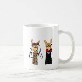 Mug Art drôle de mariage de jeunes mariés de lama