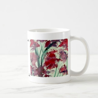 Mug Art floral moderne de CricketDiane