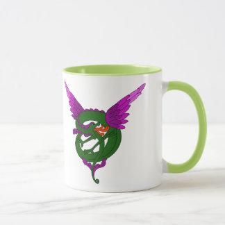 Mug Art moderne dragon vert et pourpre de Nouveau