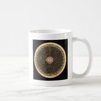 Mug Art tibétain de mandala (or et noir)