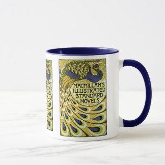 Mug Art vintage Nouveau, plume du paon de Macmillan