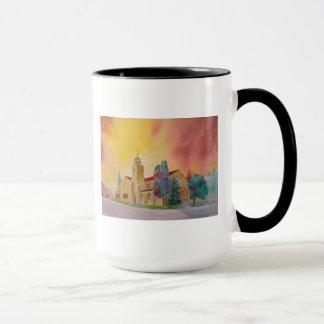 Mug Attaquez (tasse) avec l'aquarelle de l'église de