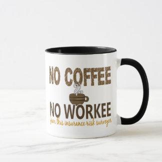 Mug Aucun café aucun arpenteur de risque d'assurance