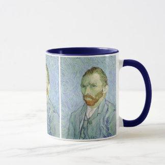 Mug Autoportrait dans le bleu par Vincent van Gogh
