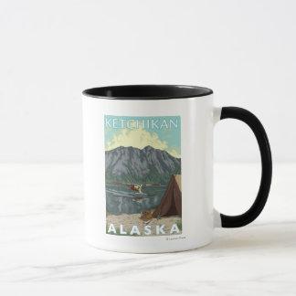 Mug Avion de Bush et pêche - Ketchikan, Alaska