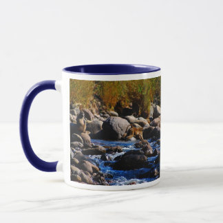 Mug Babouins traversant la rivière