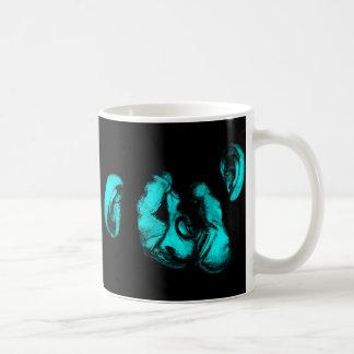 Mug baisers des chimpanzés : turquoise au néon