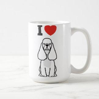 Mug Bande dessinée américaine de chien de cocker