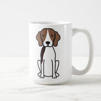 Mug Bande dessinée de chien de Coonhound de marcheur