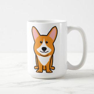 Mug Bande dessinée de chien de corgi de Gallois de