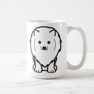 Mug Bande dessinée de chien de Pomeranian