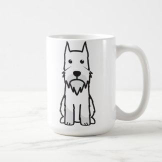 Mug Bande dessinée de chien de Schnauzer standard