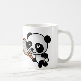 Mug Bande dessinée de joueur de tennis d'ours panda