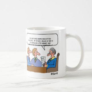 Mug Bande dessinée d'exécuteur d'avocat de validation