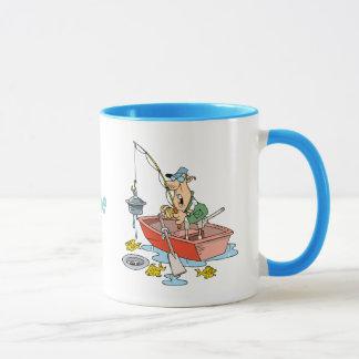 Mug Bande dessinée drôle personnalisée de pêche