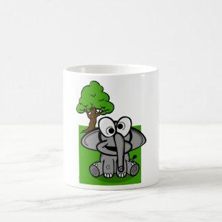Mug Bande dessinée maladroite d'éléphant