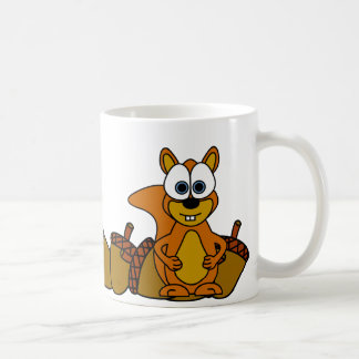 Mug Bande dessinée mignonne d'écureuil