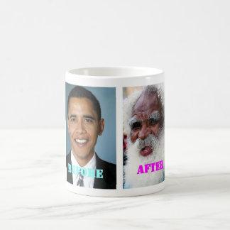 Mug Barack Obama avant et après la présidence