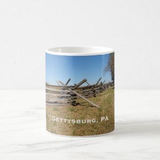 Mug barrière en bois dans la PA de Gettysburg