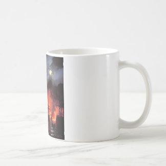Mug Bataille de Cesme la nuit par Ivan Aivazovsky
