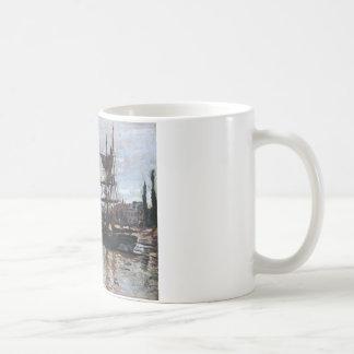 Mug Bateaux à Rouen par Claude Monet