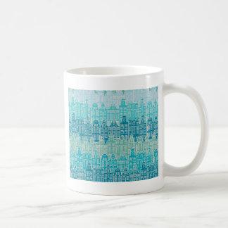 Mug Bâtiments bleus graphiques dans le style européen