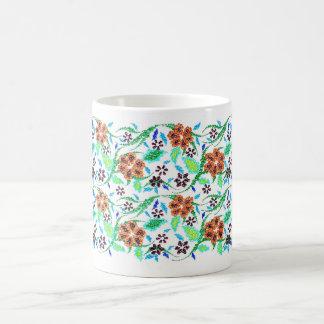 Mug Beau floral. Fait main
