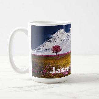 Mug Beaux Alpes de Milou roses/fleurs pourpres